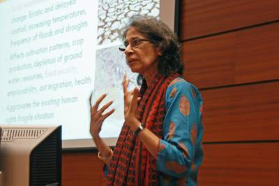 Nafisa D'Souza, a climate justice advocate from India.