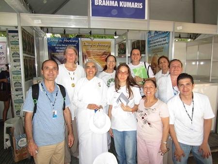 Brahma Kumaris Stand at the Peoples Summit