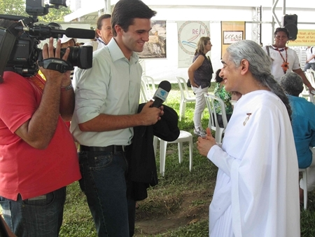 Interview with TV Brazil at the Peoples Summit