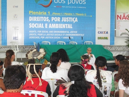 A panel including Sister Jayanti, sponsored by the Roman Catholic Bishops' Conference of Brazil