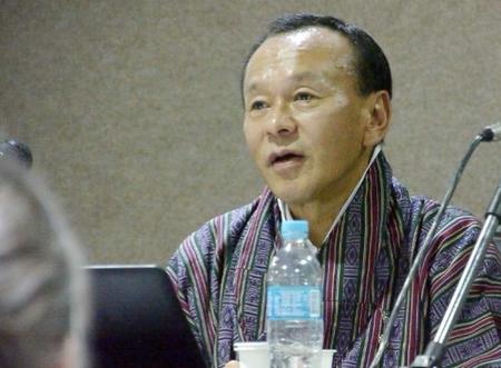 Honourable Prime Minister of Bhutan, Lyonchoen Jigmi Yoezer Thinley speaks on Gross National Happiness