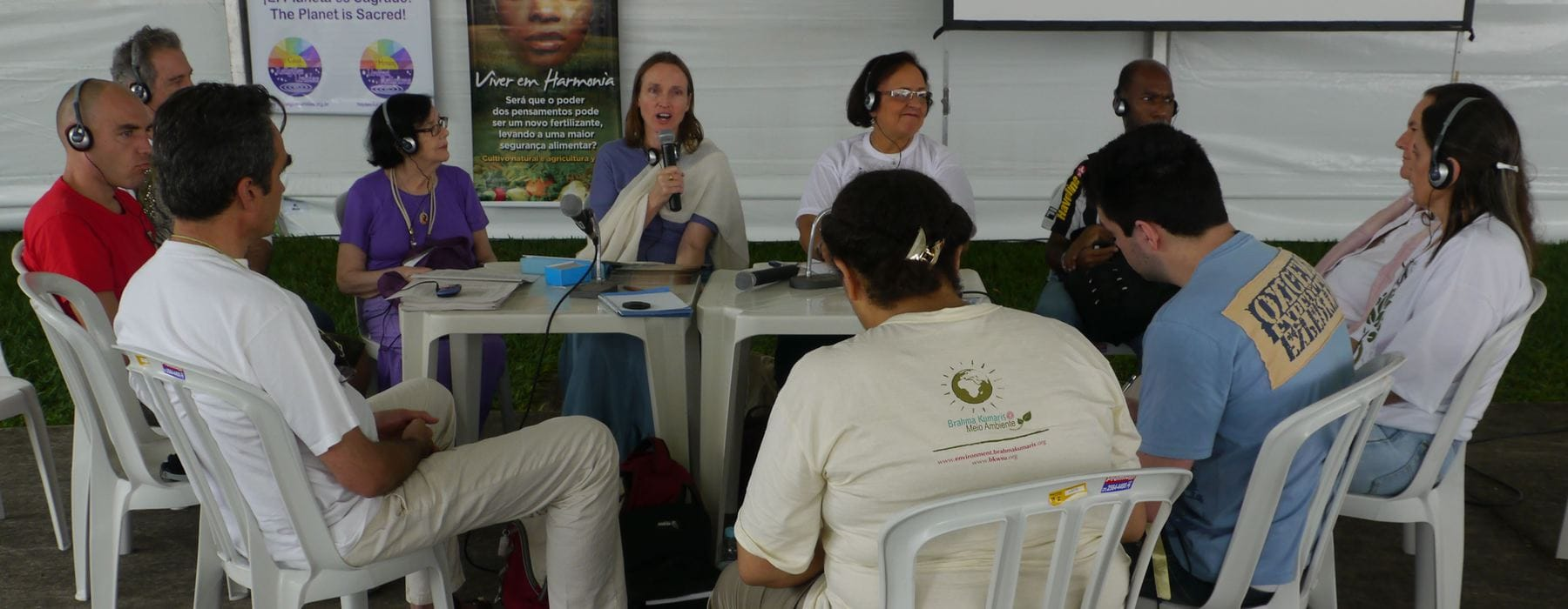 Tamasin Ramsay speaking at the Brahma Kumaris side event at the Peoples Summit on Consciousness and Environment: The consciousness of Two Living Systems
