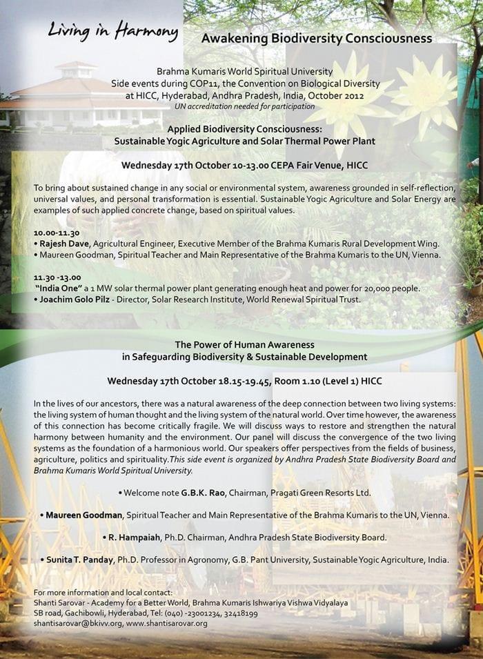 Side events COP11 Hyderabad [955]