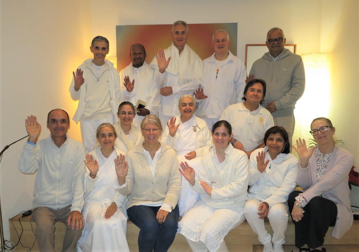 COP25 team.  Back row:Jose Maria, Shantanu, Henriques, Bill, Sanjay.   Middle row: Marta, Sister Jayanti, Antonio.   Front row: Golo, Shanti, Sonja, Carolin, Urmail, Julia.