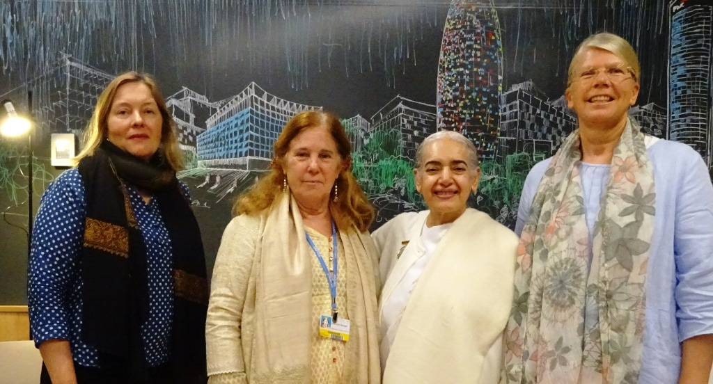Marianne Marstrand and Dena Meriam from Global Peace Initiative of Women, Sister Jayanti and Sonja