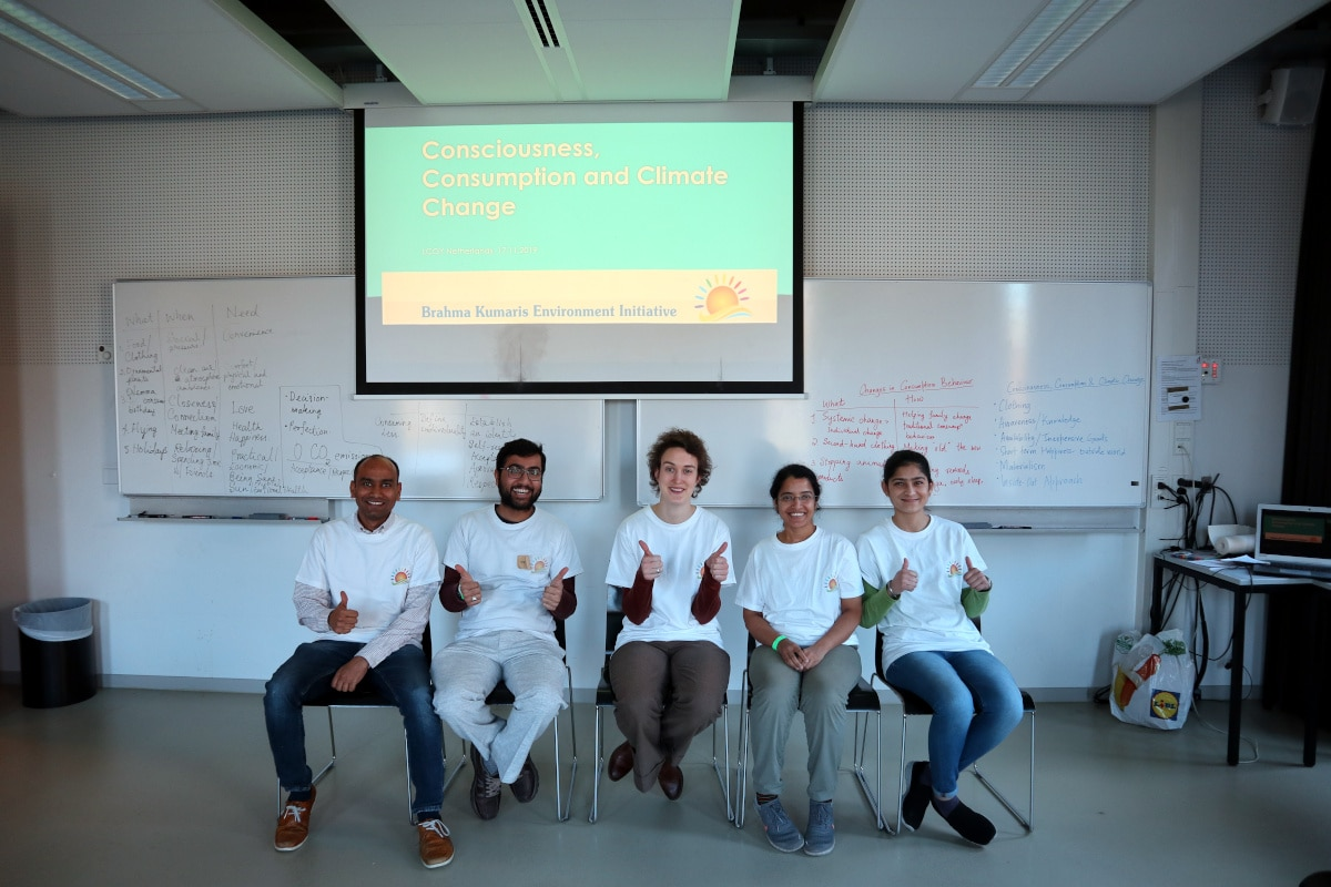 BKEI on the day of the Workshop (Left to right: Madhava, Niranjan, Ilja, Deepa, Akansha)