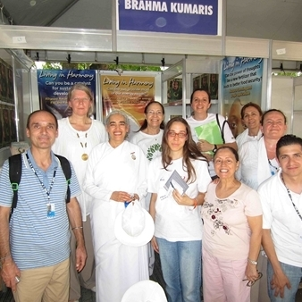 Brahma Kumaris Stand at the Peoples Summit